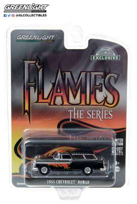 Chevrolet  - 1955 black  - 1:64 - GreenLight - 30117 - gl30117 | The Diecast Company