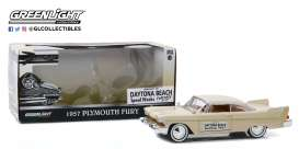 Plymouth  - Fury 1957 creme - 1:24 - GreenLight - 18257 - gl18257 | The Diecast Company