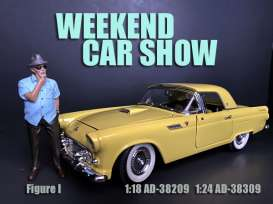 Figures  - Weekend Car Show 2019  - 1:24 - American Diorama - 38309 - AD38309 | The Diecast Company