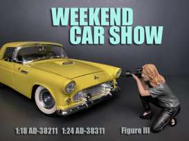 Figures  - Weekend Car Show 2019  - 1:24 - American Diorama - 38311 - AD38311 | The Diecast Company