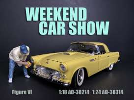 Figures  - Weekend Car Show. 2019  - 1:18 - American Diorama - 38214 - AD38214 | The Diecast Company