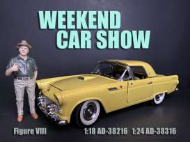 Figures  - Weekend Car Show 2019  - 1:24 - American Diorama - 38316 - AD38316 | The Diecast Company
