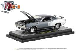 Plymouth  - Cuda 340 1971 grey/white - 1:24 - M2 Machines - 40300-76A - M2-40300-76A | The Diecast Company
