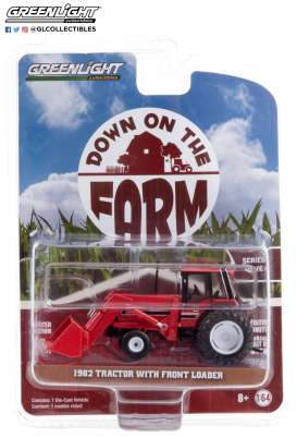 Tractor  - 1982 red/black - 1:64 - GreenLight - 48040D - gl48040D | The Diecast Company