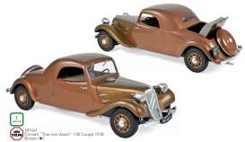 Citroen  - Traction Avant 1938 brown - 1:18 - Norev - 181441 - nor181441 | The Diecast Company