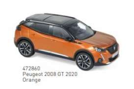 Peugeot  - 2008 GT 2020 orange - 1:43 - Norev - 472860 - nor472860 | The Diecast Company