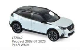 Peugeot  - 2008 GT 2020 white - 1:43 - Norev - 472862 - nor472862 | The Diecast Company