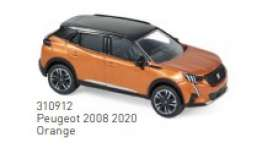 Peugeot  - 2008 2020 orange - 1:64 - Norev - 310912 - nor310912 | The Diecast Company