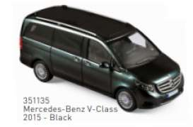 Mercedes Benz  - V-Class 2015 black - 1:43 - Norev - 351135 - nor351135 | The Diecast Company