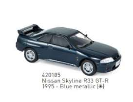 Nissan  - Skyline 1995 blue - 1:43 - Norev - 420185 - nor420185 | The Diecast Company