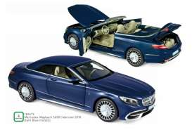 Mercedes Benz  - Maybach 2018 blue metallic - 1:18 - Norev - 183472 - nor183472 | The Diecast Company
