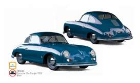 Porsche  - 356 Coupe 1952 blue - 1:18 - Norev - 187450 - nor187450 | The Diecast Company