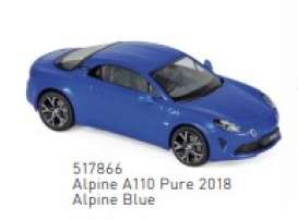 Renault Alpine - 2018 blue - 1:43 - Norev - 517866 - nor517866 | The Diecast Company