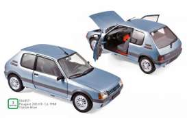 Peugeot  - 205 GTi 1.6 1988 blue - 1:18 - Norev - 184857 - nor184857 | The Diecast Company