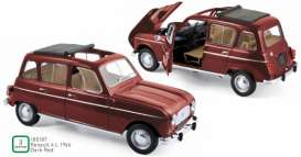 Renault  - 4L 1966 dark red - 1:18 - Norev - 185187 - nor185187 | The Diecast Company
