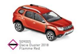 Dacia  - Duster 2018 red - 1:43 - Norev - 509005 - nor509005 | The Diecast Company