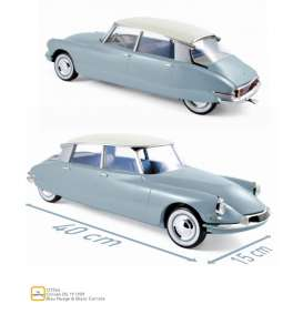 Citroen  - DS 19 1959 blue/white - 1:12 - Norev - 121564 - nor121564 | The Diecast Company