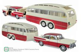 Simca  - 1958 red/ivory - 1:18 - Norev - 185728 - nor185728 | The Diecast Company