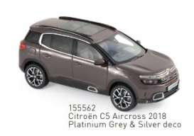 Citroen  - C5 2018 grey/silver - 1:43 - Norev - 155562 - nor155562 | The Diecast Company