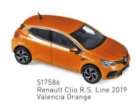 Renault  - Clio 2019 orange - 1:43 - Norev - 517586 - nor517586 | The Diecast Company