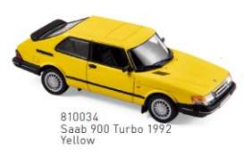 Saab  - 1992 yellow - 1:43 - Norev - 810034 - nor810034 | The Diecast Company