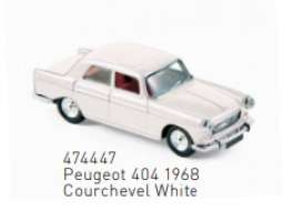 Peugeot  - 1968 white - 1:87 - Norev - 474447 - nor474447 | The Diecast Company