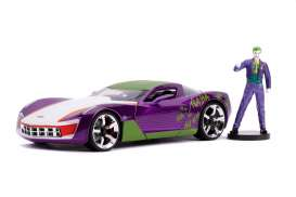 Chevrolet  - Corvette Stingray 2009 purple/white/green - 1:24 - Jada Toys - 31199 - jada31199 | The Diecast Company