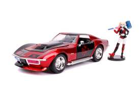 Chevrolet  - Corvette Stingray 1969 red/black - 1:24 - Jada Toys - 31196 - jada31196 | The Diecast Company