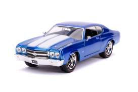 Chevrolet  - Chevelle  1970 blue/white - 1:24 - Jada Toys - 31450 - jada31450b | The Diecast Company