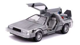 Delorean  - Back to the Future II grey-silver - 1:24 - Jada Toys - 31468 - jada31468 | The Diecast Company