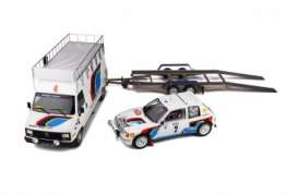 Peugeot  - 205 1985 white/blue - 1:18 - OttOmobile Miniatures - 328 - otto328 | The Diecast Company