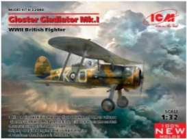 Planes  - Gloster Gladiator  - 1:32 - ICM - 32040 - icm32040 | The Diecast Company