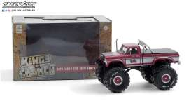 Ford  - F-250 Monster Truck 1975 red/grey - 1:43 - GreenLight - 88032 - gl88032 | The Diecast Company