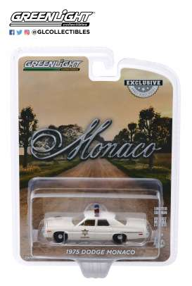 Dodge  - Monaco 1975 white - 1:64 - GreenLight - 30140 - gl30140 | The Diecast Company