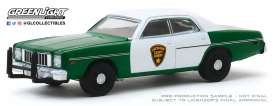 Plymouth  - Fury 1975 green/white - 1:64 - GreenLight - 30141 - gl30141 | The Diecast Company