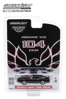 Pontiac  - Firebird 1978 black/red - 1:64 - GreenLight - 30149 - gl30149 | The Diecast Company