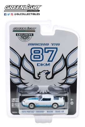 Pontiac  - Firebird 1978 white/blue - 1:64 - GreenLight - 30150 - gl30150 | The Diecast Company