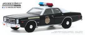 Dodge  - Monaco 1977 black/white - 1:64 - GreenLight - 30152 - gl30152 | The Diecast Company
