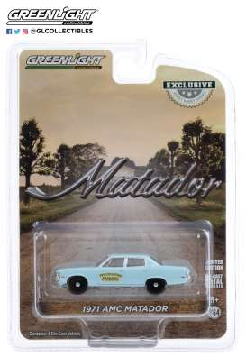 AMC  - Matador 1971 blue - 1:64 - GreenLight - 30153 - gl30153 | The Diecast Company