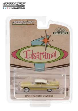 Plymouth  - Belvedere 1957 gold/sand/white - 1:64 - GreenLight - 30157 - gl30157 | The Diecast Company