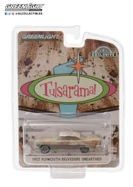 Plymouth  - Belvedere 1957 gold/sand/white - 1:64 - GreenLight - 30158 - gl30158 | The Diecast Company