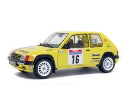 Peugeot  - 205 Rally yellow - 1:18 - Solido - 1801705 - soli1801705 | The Diecast Company