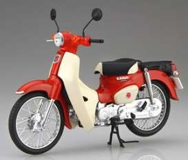 Honda  - Super Cub 110 red/white - 1:12 - Fujimi - 141831 - fuji141831 | The Diecast Company