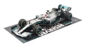 Mercedes Benz Petronas - 2019 silver/turquoise - 1:43 - Minichamps - 417191844 - mc417191844 | The Diecast Company