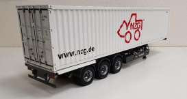 Trailer  - *NZG* + 40ft Container grey/white - 1:18 - NZG - 978 - NZG978 | The Diecast Company