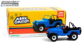 Jeep  - CJ-5 1972 blue - 1:18 - GreenLight - 19079 - gl19079 | The Diecast Company