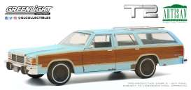 Ford  - LTD Country Squire 1980 blue - 1:18 - GreenLight - 19085 - gl19085 | The Diecast Company