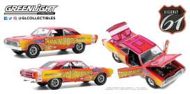 Dodge  - Dart 240 1969 yellow/pink - 1:18 - Highway 61 - hwy18024 - hwy18024 | The Diecast Company