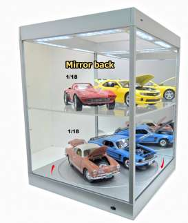 Accessoires diorama - 2018 silver/mirror - 1:18 - Triple9 Collection - 69929Ms - T9-69929Ms | The Diecast Company