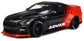 Ford LB Works - Mustang black/red - 1:18 - Kyosho - GTS035KJ-B - GTS035bkr | The Diecast Company